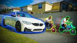 CORRIDA DAS MINI MOTOS VS BMW M4 !!!