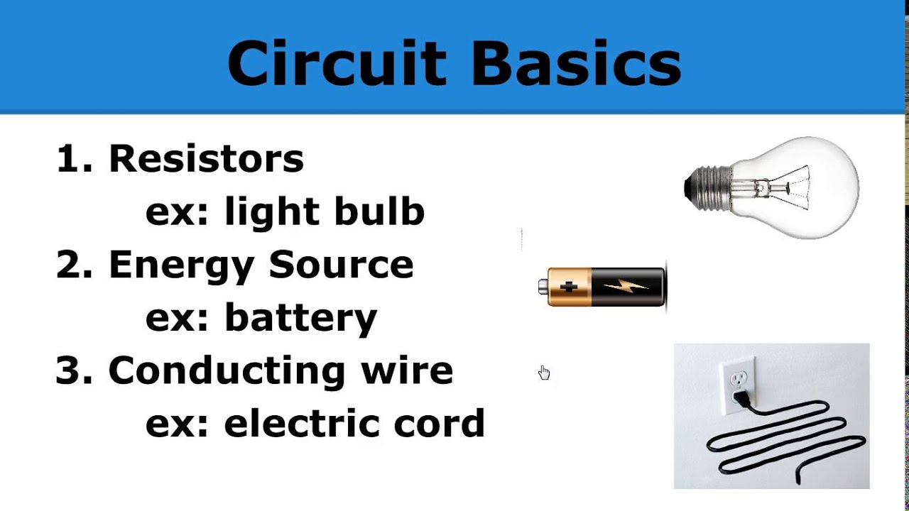 Electric Circuits Basics 1 Youtube Wiring Circuit