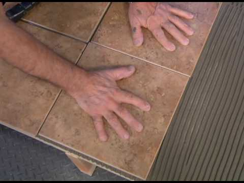How To Lay Tile Over Plywood Youtube