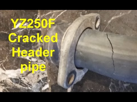 YZ250F Cracked header pipe - Works just fine
