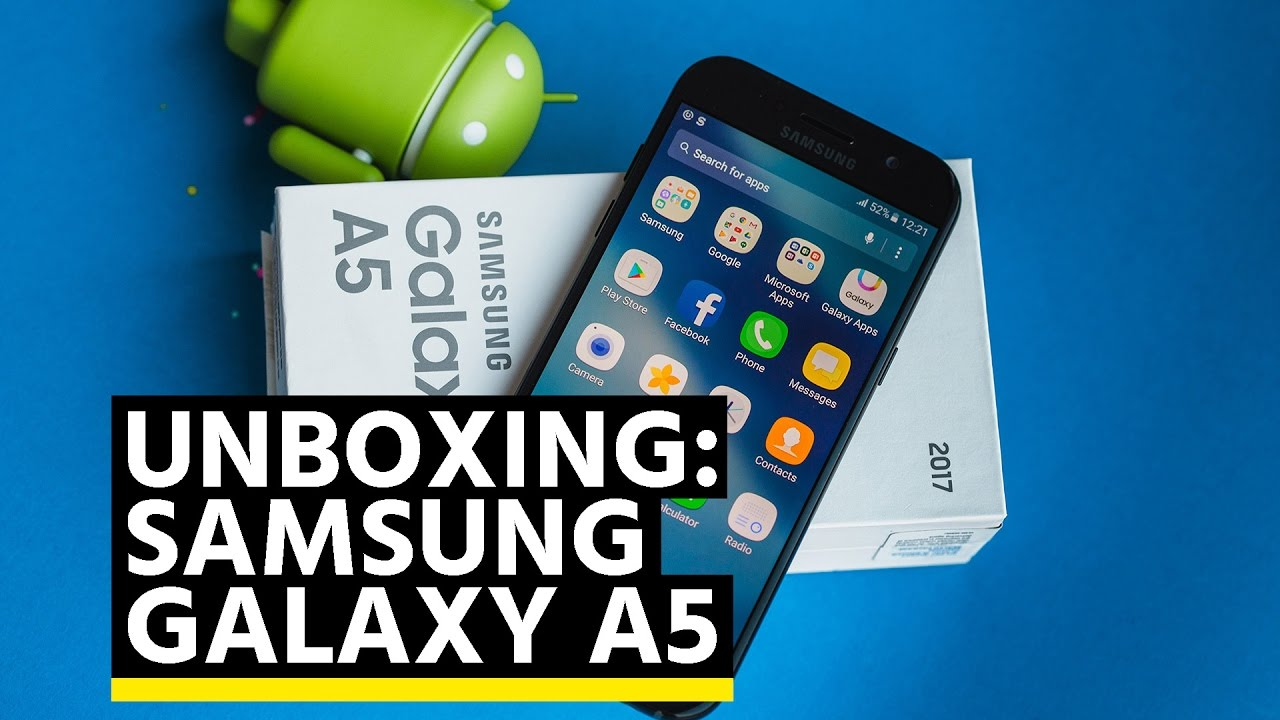 samsung galaxy a5 2017 unboxing d ballage et premier avis youtube. Black Bedroom Furniture Sets. Home Design Ideas