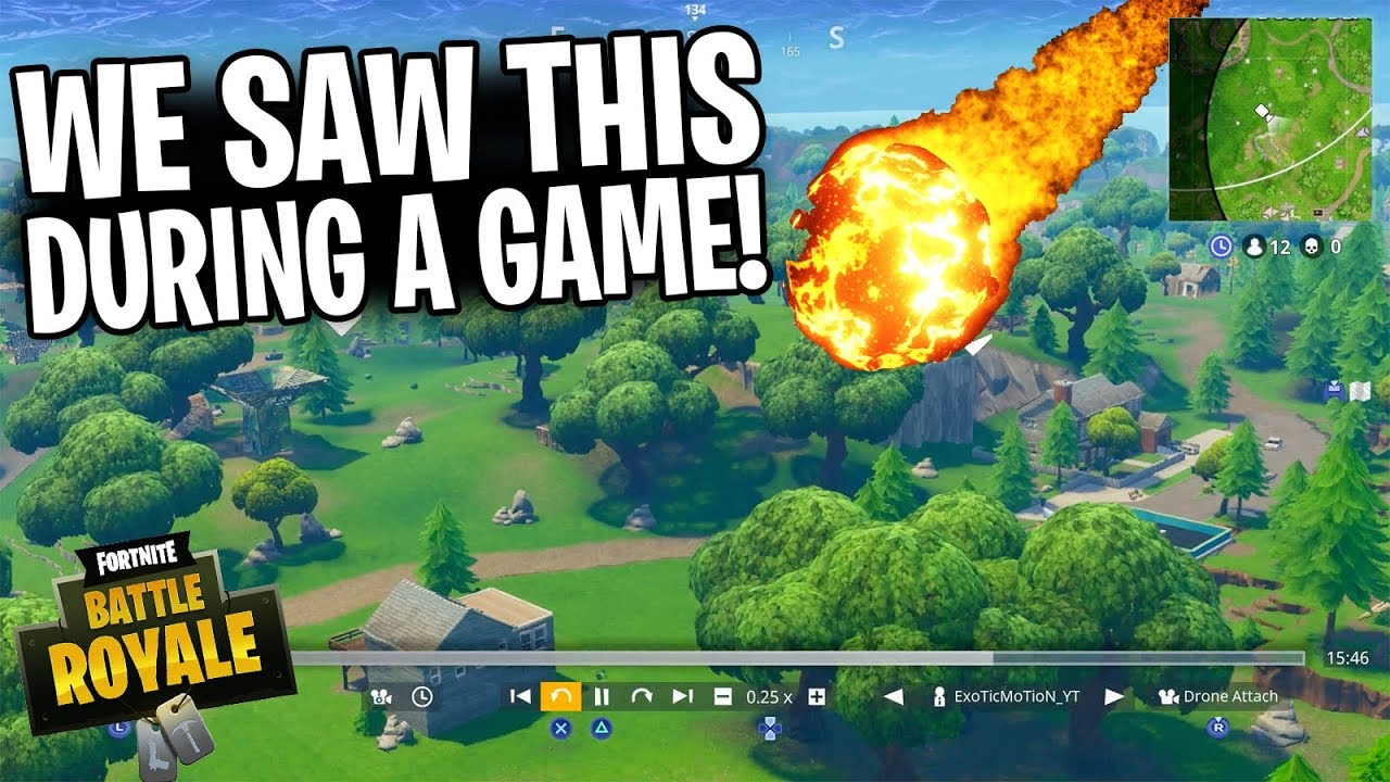METEOR STRIKES FORTNITE MAP ACTUAL VIDEO *NOT CLICKBAIT*
