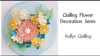Paper Quilling Flower Decoration Learning Video 3 // Paper Quilling Art // Paper Flower