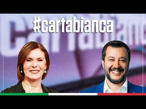 MATTEO SALVINI A CARTA BIANCA (RAI 3, 22.09.2020)