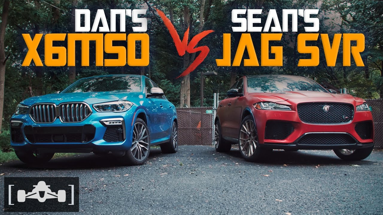 2020 BMW X6 M50i (523HP) vs. Jaguar F-Pace SVR (550HP) | 1/2 MILE DRAG RACE