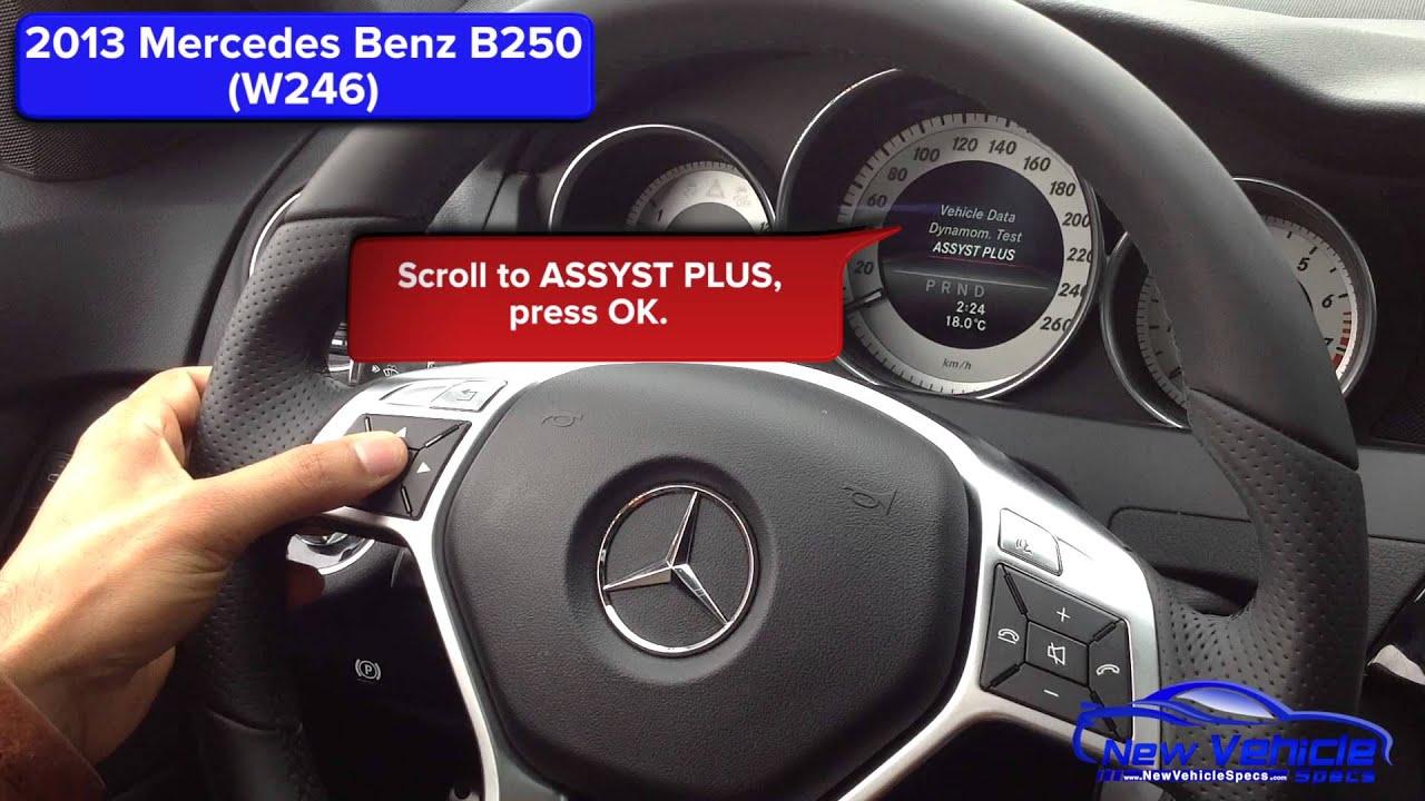 2013 Mercedes B250 Oil Light Reset / Service Light Reset ...