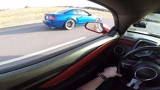 700+hp Cobra BLOWS Oil EVERYWHERE during a race!!