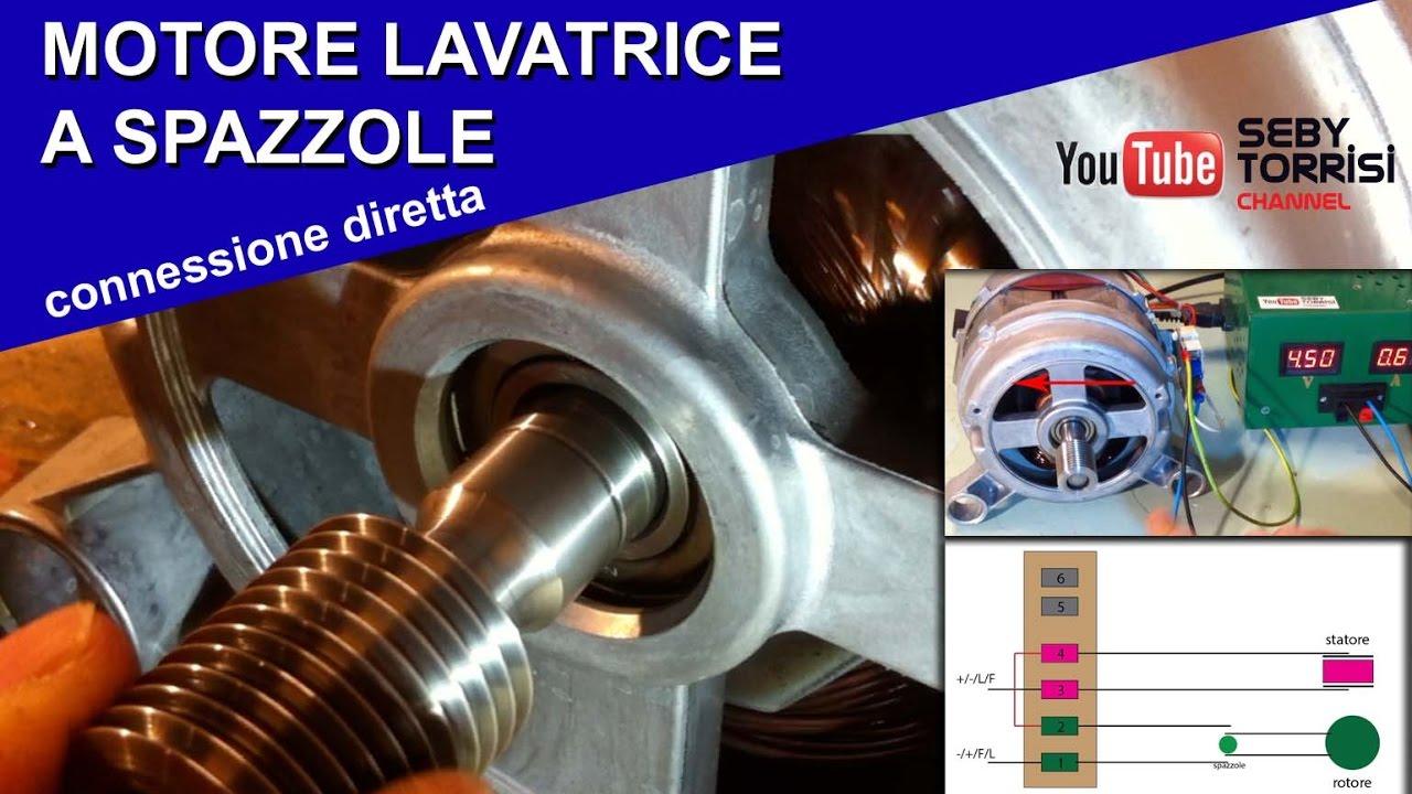 Schema Elettrico Lavatrice : Il motore lavatrice a spazzole [motore universale]: come collegarlo