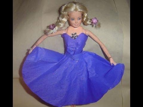 Vestido roxo de papel crepom fácil para Barbie ou Monster , Duration 1146. Reikiama Cláudia 18,928 views