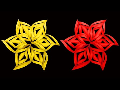 How to Make A Twisted Paper Christmas Star (Snowflake Crafts) : HD