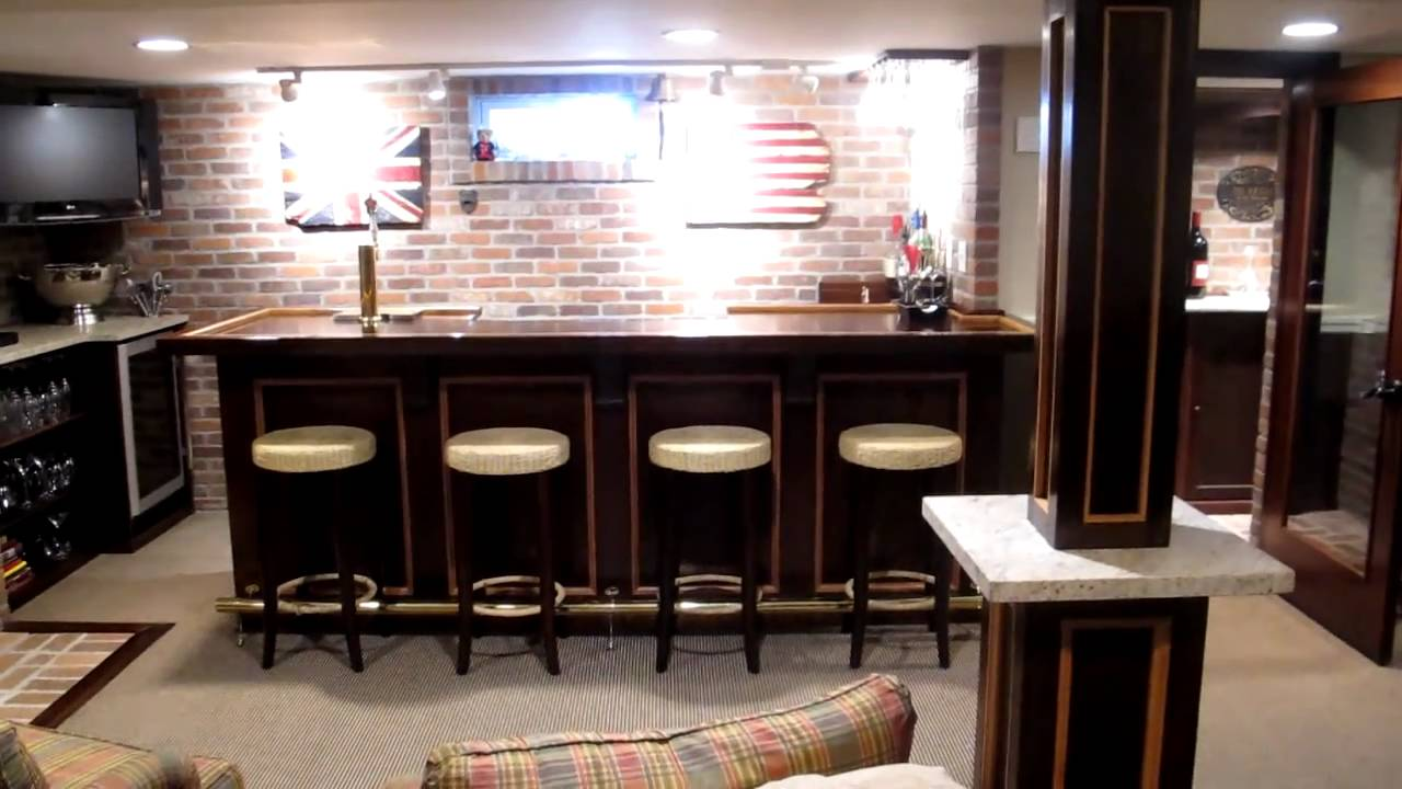 simple basement bars.  Basement Bar Sports Room Mov YouTube
