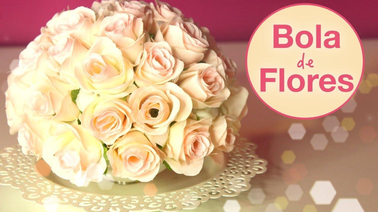 Bola de Flores para Decoraç u00e3o DIY YouTube -> Decoração De Flores Festa