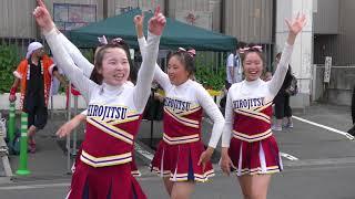 西弘ちょうちんまつり.聖愛高校と実業高校の共演 チアリーディング2018