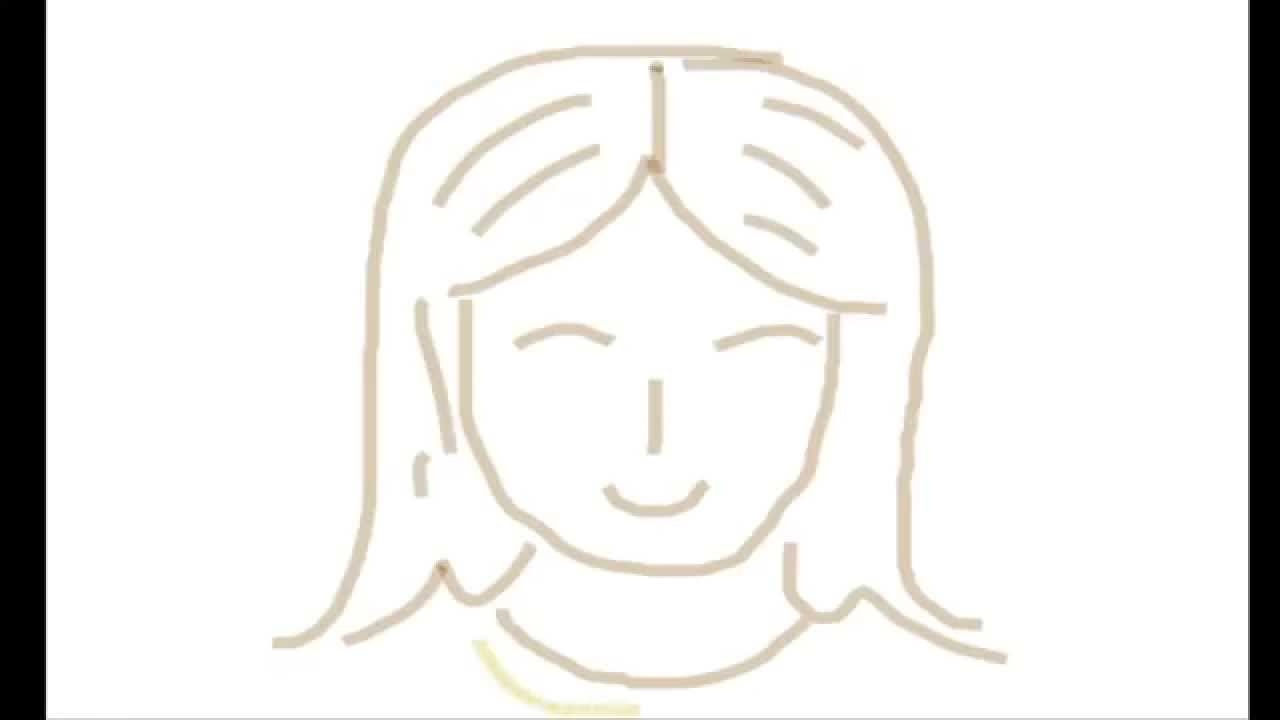 How to draw girl face for kids in simple way
