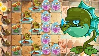 Plants Vs Zombies 2 Kung World: NEW Level Snap Dragon Blue Fire (China IOS Version)
