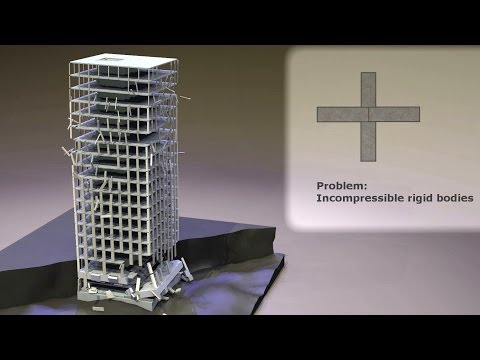 Problems and Solutions for the Collapse Simulation of a High-Rise Building (INACHUS)