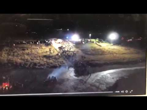 DIGITAL SMOKE SIGNALS Aerial Footage From The Night Of November 20,2016 At Standing Rock