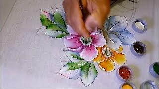 Aprenda a Pintar Flores do campo e folhas modernas