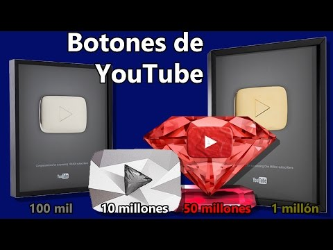 Thumbnail: Botones de YouTube | Rubí, Diamante, Oro, Plata