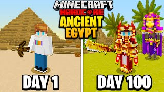 I Survived 100 Days in ANCIENT EGYPT in Hardcore Minecraft...