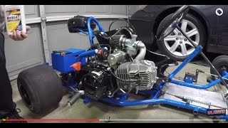 125cc GO KART ENGINE SWAP AND TEST RIDE