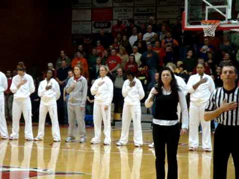 Brittany MacLeod singing the National Anthem @ Marist Women