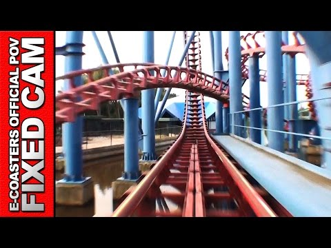 Xpress Walibi Holland - Roller Coaster POV On Ride LSM Coast