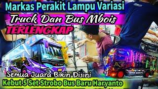 Lima Bus Baru Haryanto Ngantri Strobo Di markas Variasi Strobo LED Running texs Truck & Bus