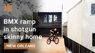 BMX rider builds around purpose: small home, big bike ramp