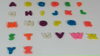 Play Doh ABC SONG Alphabet Letters For Children using Play Doh Letters Numbers n fun - Learn ABC