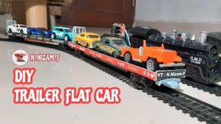 DIY Trailer Flat Car For Rail King Intellegent Classic (Modify ESC) on HO Scale | Test Running