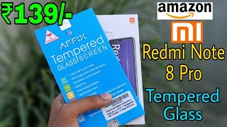 Redmi note 8 Pro Tempered glass/unboxing/Amazon.in/9H/Review