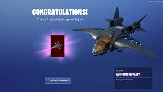 Unlocking the new glider the Avengers Quinjet #fortnite #Avengers #Endgame