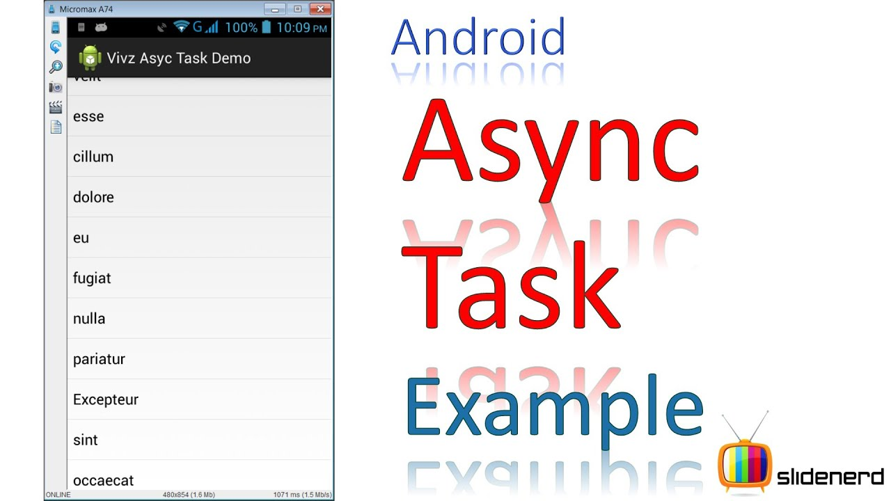 184 Android Asynctask Example Youtube