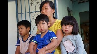 Thương cảm hoàn cảnh góa phụ nuôi 3 con nhỏ mồ côi Cha