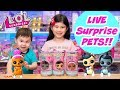 UNBOXING LOL SURPRISE INTERACTIVE LIVE SURPRISE PETS | FUZZY FAN, BUNNY HUN, HOOPS DOGG #PETSOFLOL
