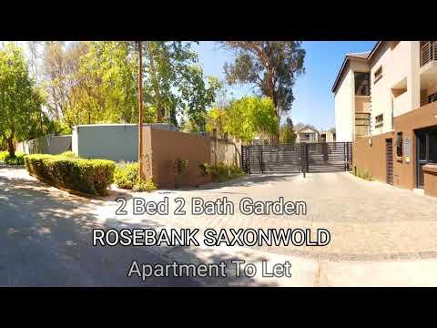 To Let 2 Bed 2 Bath Garden Apartment Saxonwold Rosebank