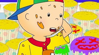 Funny Animated cartoons Kids | Caillou makes cupcakes | WATCH ONLINE | Cartoons for Children