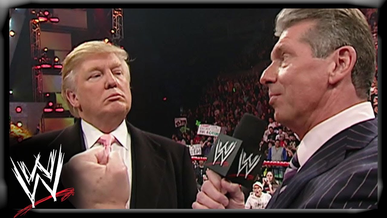 Mr. McMahon and Donald Trump announce the Battle of the Billionaires