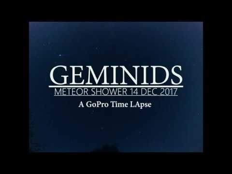 GEMINID METEOR SHOWER 2017 | A 4K GoPro Time Lapse |  Blink And You'll Miss IT !!