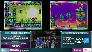 Kirby & the Amazing Mirror Co-op by swordsmankirby and GravelCrusher in 24:06 - SGDQ 2016 - Part 145