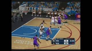 College Hoops 2K7 Xbox Gameplay - Kansas Action