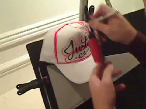 76d8718a46b2f Airbrushed Trucker Hat - YouTube