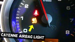 PORSCHE CAYENNE AIRBAG LIGHT ON DIAGNOSTICS AND AIRBAG LIGHT RESET