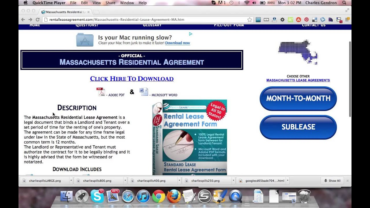 Massachusetts Residential Lease Agreement Youtube