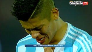 Jugadores de Argentina lloran tras perder la final de la Copa América 2015