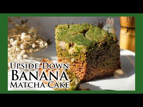 upside-down-banana-matcha-cake-recipe|vegan-&-gluten-free|ladymoko