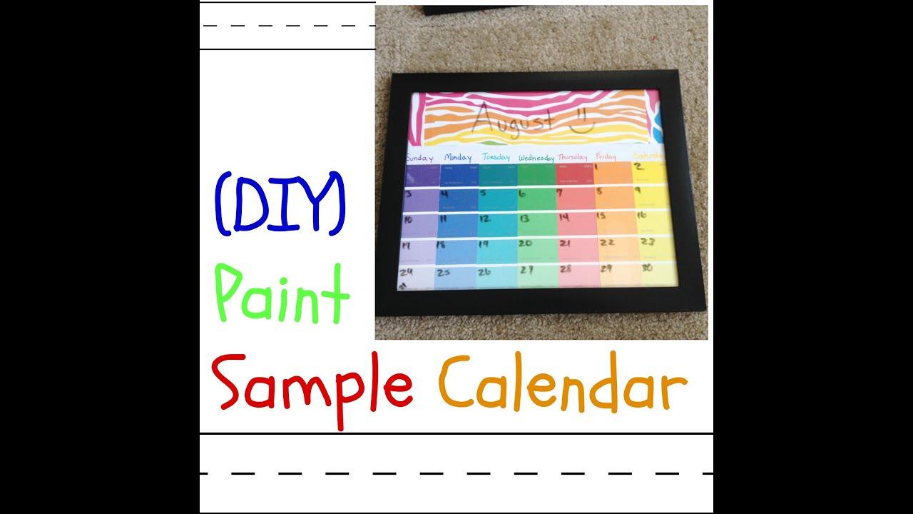 DIY Paint Strip Calendar Back To School YouTube – Sample School Calendar