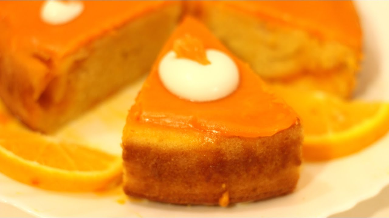 Orange Cake - How to make Orange Cake with Orange Glaze - YouTube