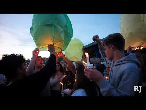 Balloon release in memory of 3 Las Vegas teens killed in Huntington Beach crash